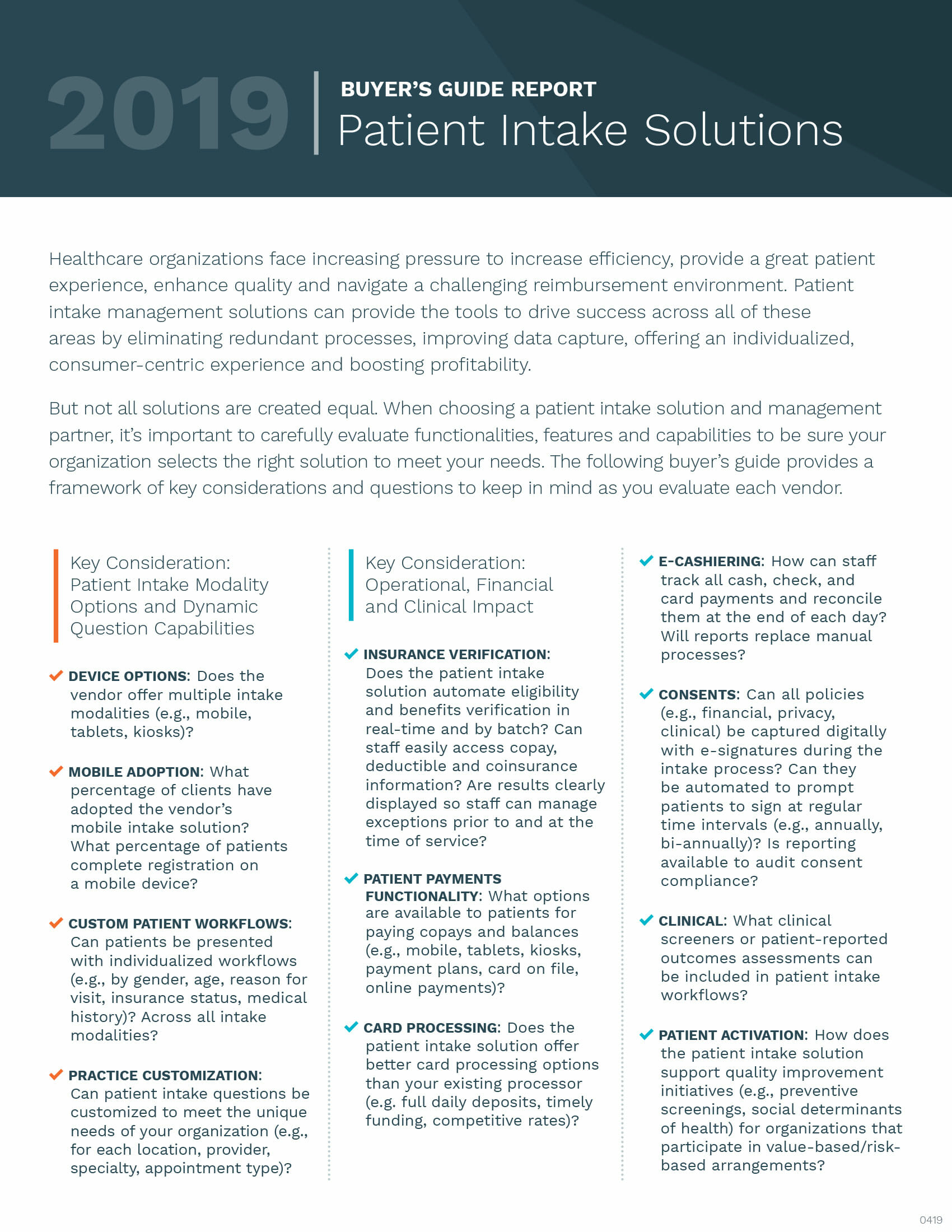 2019 Patient Intake Buyer's Guide | Phreesia